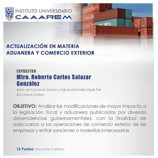 Actualización en Materia Aduanera y Comercio Exterior