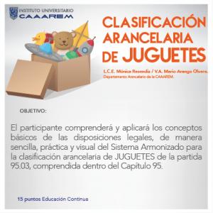 Clasificación arancelaria de Juguetes