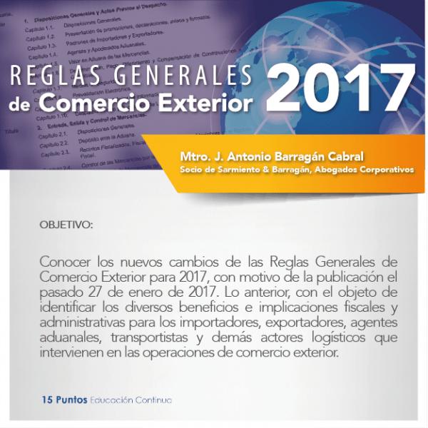 Reglas Generales de Comercio Exterior 2017